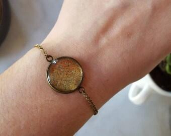 Gold glitter bracelet