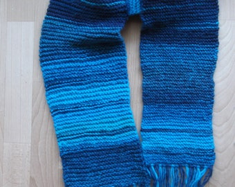 long soft shades of blue scarf