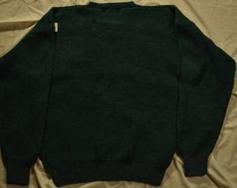 Vintage Eddie Bauer Green Knit Sweater (Large)