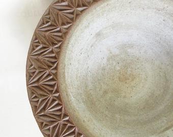 Carved Ceramic Bowl / Fruit Bowl