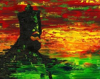 Rastafari - Original Acrylic Painting
