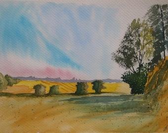 Original constable english landscape