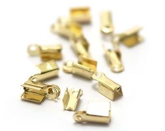 100 end caps crimp, Golden