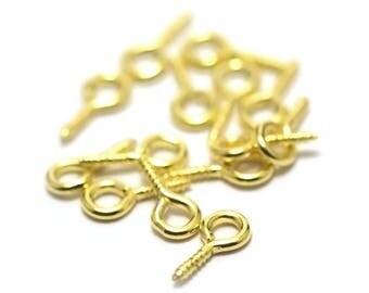 100 pegs screw 12 x 5 mm, golden rod