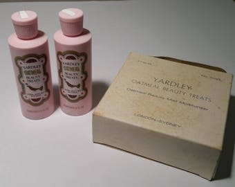 Yardley Rare Vintage Oatmeal Beauty Treats Mist Moisturizer Original Commercial Packaging 1960's