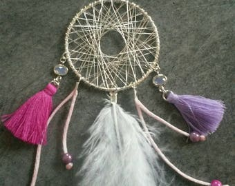 Pink and silver dream catcher
