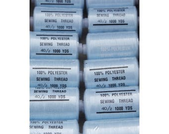 thread sky blue polyester 1000 yards 183