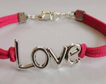 Suede suede hot Love bracelet