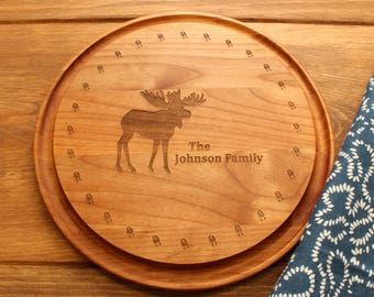 Engraved Wood Cutting Board,Customizable Moose Prints Design,Wedding Gift,Christmas Gift,Anniversary Gift,Engagement Gift