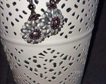 Small flowers festive earrings