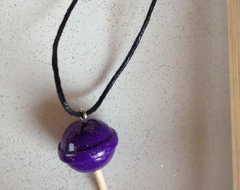 Collier mi long lollipop with polymer clay