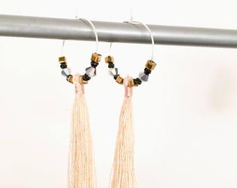 Elegant hoops & tassel! These unusual earrings earrings fancy Bohemian style