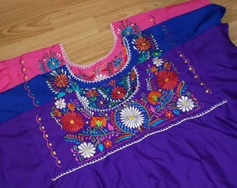 Authentic Mexican Embroidered Blouse