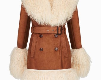 70's inspired Shearling Coat