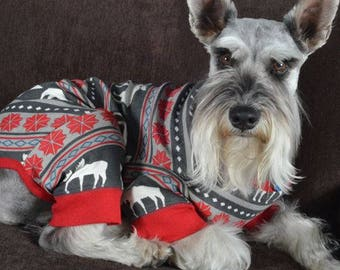 Christmas Pajamas Family Dog Moose Fair Isle Family Dog Pajamas Family Christmas Pajamas Moose Pajamas Family Dog