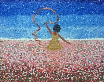 Happy Soul - Original textured acrylic painting