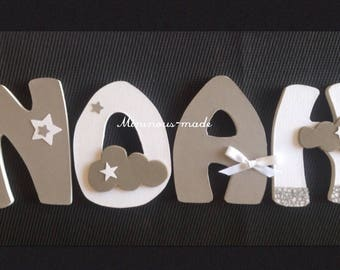 Name with NOAH-custom wooden letters