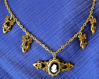 Redesigned Costume Jewelry - Necklace with Cameo