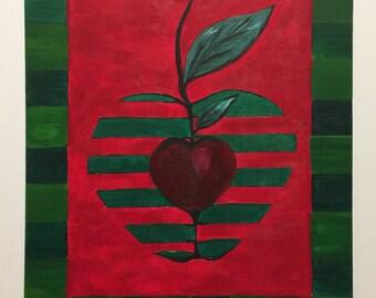 Apples in watermelon skin.