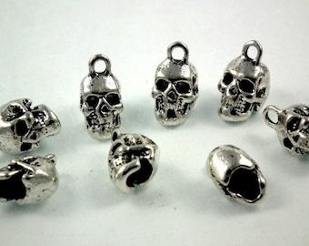 Skull Head argente♥ ♥X6