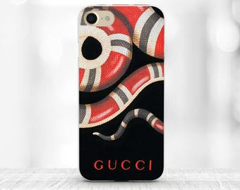 Gucci Red Snake iPhone Case Gucci iPhone 7 plus Gucci iPhone 6s Case Fashion iPhone case Gucci Samsung S7 Case black gucci iphone 8 case SE