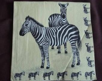 Zebras n182 napkin
