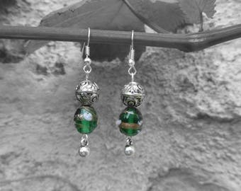 """Collection """"nature they""""-earrings nature Green"""