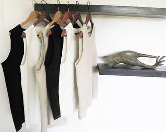 Handwoven, Hemp, Casualwear, Casual Top, Handmade, Summer, Blouse, Top,  Women, Men, Organic, Vegan, 100% Hemp, Undershirt, Tank Top,