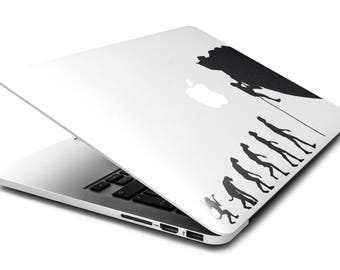 Man Evolution to Rock Climber l Decal Sticker for Macbooks and other Laptops, Cliffhanger Cliff Rock Climb, Radical Sports, mac