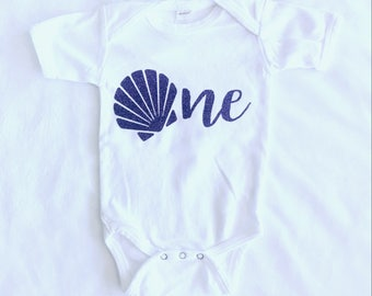 Mermaid 1st birthday baby suit