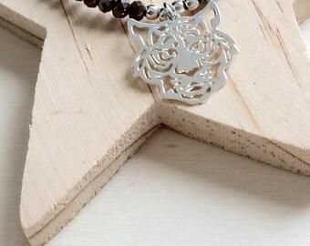Bracelet tete de tigre filigrané en argent 925