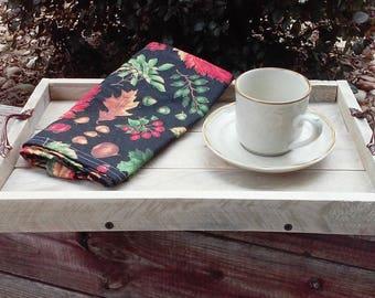 Rustic Farmhouse Serving Tray Handmade Housewarming Gift