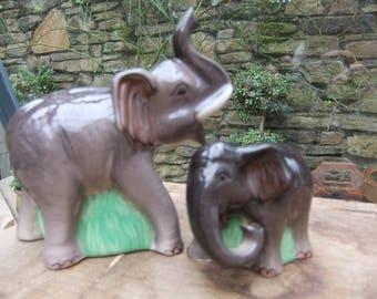 Elephant salt and pepper pots