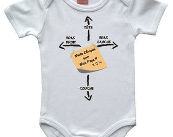 "humorous message ""mode of jobs for Daddy"" Bodysuit"