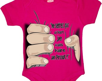 "funny baby Bodysuit ""If you overtighten"""