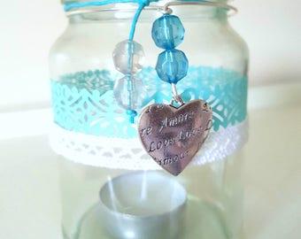 Upcycled Jar Candle Holder.
