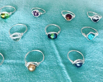 Wire Wrapped Bead Rings