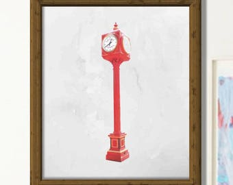 Limited time promotion. Chama Town Clock. PDF Printable Wall Art. Minimalist Wall Art.