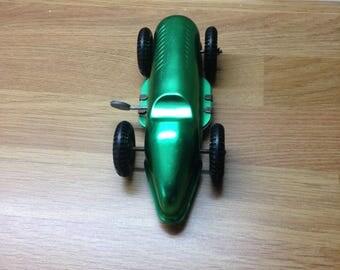 the speedway vintage clockwork tin toy racing car