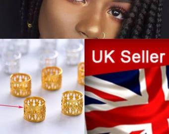 25 Gold Adjustable Hair Cuff/Bead for Dreadlocks Box braids cornrows and plaits