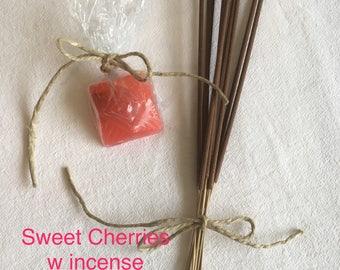 Sweet Cherries Diamong Cloaking Soap w Incence