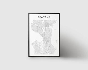 Seattle Map Print