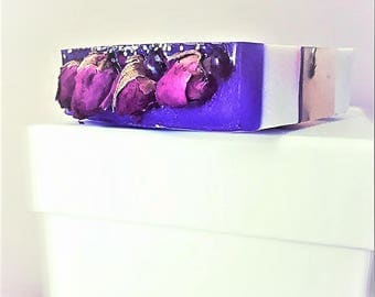 Handmade Soap With Roses Purple Dream