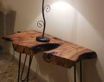 Olive tree side table