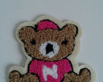 patch applique bear embroidery, sewing pattern