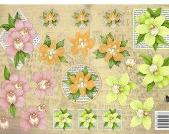 leaf 3D flowers 1