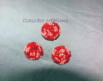 customized with crocheted beads buttons