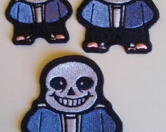 Undertale Inspired Sans Embroidered Patch Iron On or Sew On