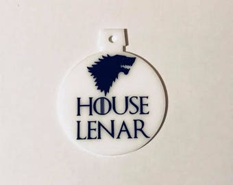 Custom Personalized Game Of Thrones House Sigil Ornament