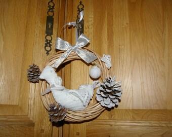 wreath ornament with White Dove